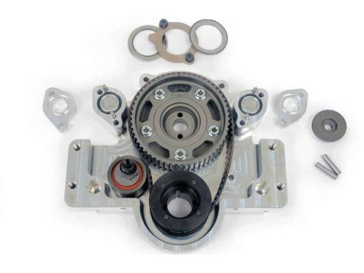 Small Block Ford Camshaft Belt Drive with BBC Accessory Mount Pads
